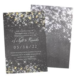 Gray Starbright Invitations
