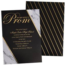 Black & Marble Luxury Invitations