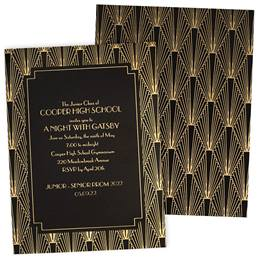 Vintage Art Deco Luxury Invitations