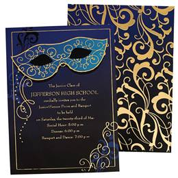 Masquerade Ball Mask Luxury Invitations
