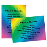 Full-color 5x7 Invitation - Rainbow Colors