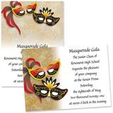 Full-color 5x7 Invitation - Masquerade