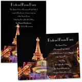 Full-color 5x7 Invitation - Paris Nights