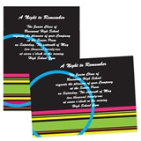 Full-color 5x7 Invitation - Neon Stripes