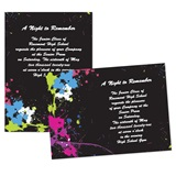 5x7 Invitation - Neon Splatter Art