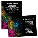 Full-color 5x7 Invitation - Neon Swirls