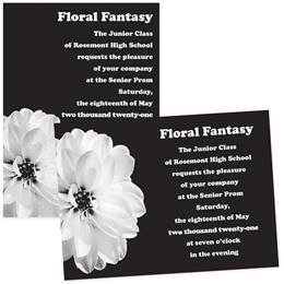 5x7 Invitation - Pretty White Flower