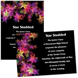 Full-color 5x7 Invitation - Neon Stars