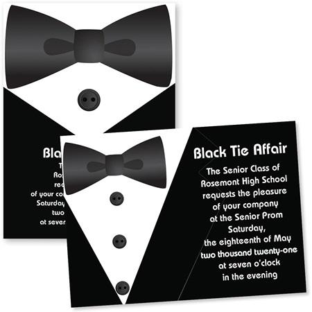 5x7 invitation tuxedo elegance prom nite