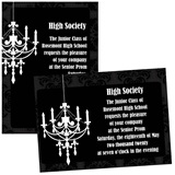 Full-color 5x7 Invitation - White Chandelier