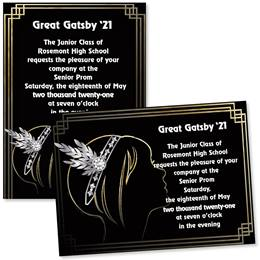 Full-color 5x7 Invitation - Fancy '20s Girl