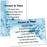 Full-color 5x7 Invitation - Large Snowflake