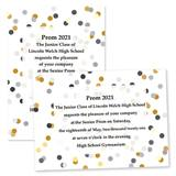 Custom Full-color 5x7 Invitation - Dottie Confetti
