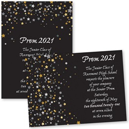 Full-color 5x7 Invitation - Star Confetti
