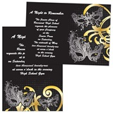 Full-color 5x7 Invitation - Masks & Swirls