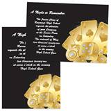 Full-color 5x7 Invitation - Gold Casino