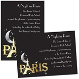 Full-color 5x7 Invitation - Paris Sparkle