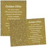 Full-color 5x7 Invitation - Golddust