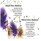 Full-color 5x7 Invitation - Feathers and Beads