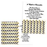 Full-color 5x7 Invitation - Gold Herringbone