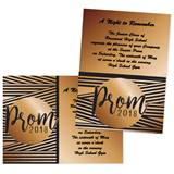 5x7 Invitation - Fancy Prom 2017 Stripes