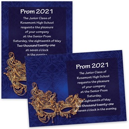 Venetian Mask 5x7 Invitation