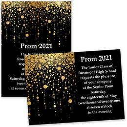 Gold Rain 5x7 Invitation
