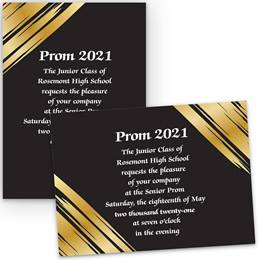 Golden Streaks 5x7 Invitation