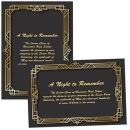 5x7 Full-color Custom Invitations - Gatsby Deco