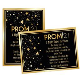 Gold Star Quality Prom 2021 5x7 Invitation