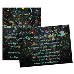 Prismatic Confetti 5x7 Invitation