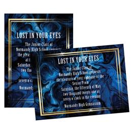 Marbled Blue 5x7 Invitation