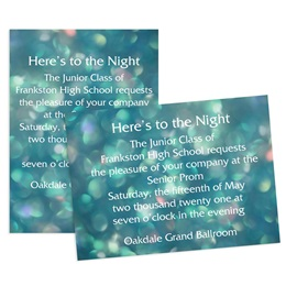 Teal Bubbles 5x7 Invitation