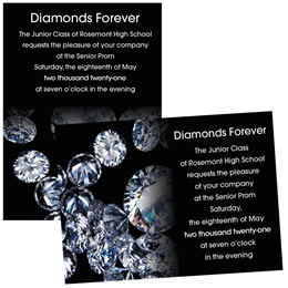 "Diamond Sparkle 4"" x 6"" Invitation"