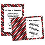 "Diagonal Red Stripes 4"" x 6"" Invitation"