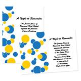 "Blue and Yellow Dots 4"" x 6"" Invitation"