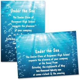Under the Sea 4 x 6 Invitations