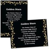 Gold Star Ribbons 4x6 Invitations
