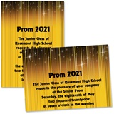 "Golden Glints 4"" x 6"" Invitation"