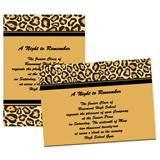 "Cheetah Border 4"" x 6"" Invitation"