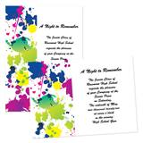 "Color Splatter 4"" x 6"" Invitation"