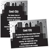 "City Skyline 4"" x 6"" Invitation"