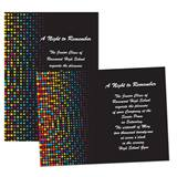 "Rainbow Dots 4"" x 6"" Invitation"