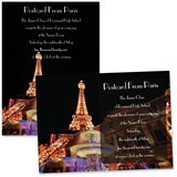 "Paris Nights 4"" x 6"" Invitation"