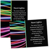 Neon Strings 4 x 6 Invitations