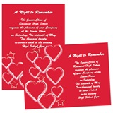 "Hearts and Stars 4"" x 6"" Invitation"