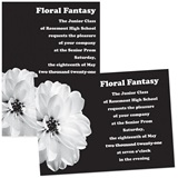 "Pretty White Flower 4"" x 6"" Invitation"