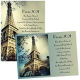 Eiffel Tower 4x6 Invitations
