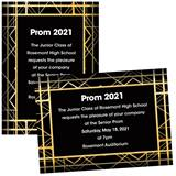 Art Deco Lines 4 x 6 Invitations