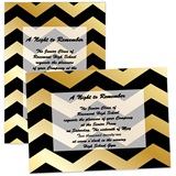 Gold Chevrons 4 x 6 Invitations